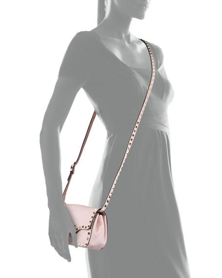 Rockstud Mini Crossbody Bag, Rose
