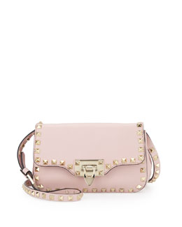 Valentino Rockstud Mini Crossbody Bag, Rose