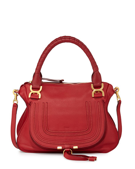 Marcie Satchel Bag, Cherry