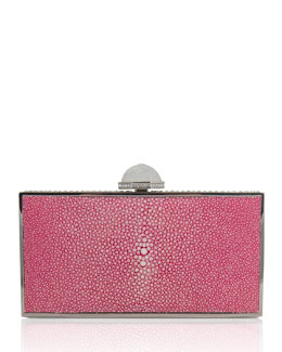 Judith Leiber Couture Perfect Rectangle Stingray Clutch Bag, Fuchsia
