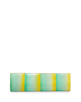 Nancy Gonzalez Crocodile Slicer Clutch Bag, Yellow Degrade,