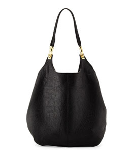 Elizabeth and James Cynnie Leather Shopper Bag, Black