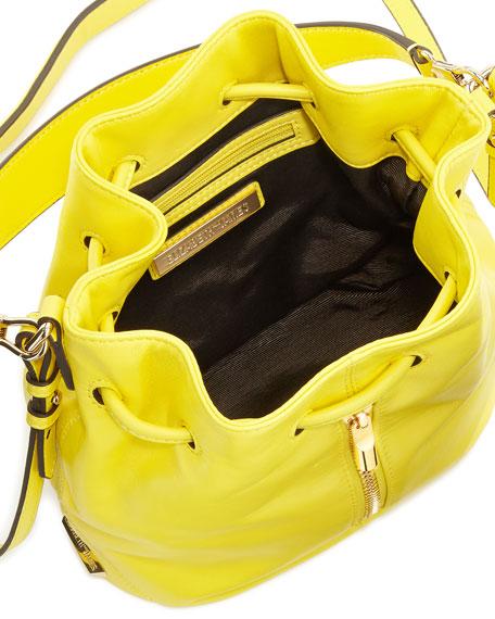 Cynnie Mini Bucket Bag, Peony Yellow