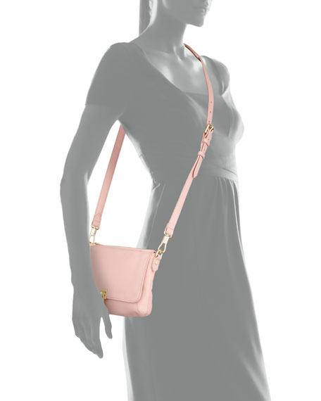 Cynnie Micro Crossbody Bag, Pink Beach