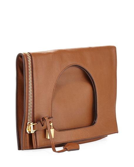 Alix Small Padlock & Zip Shoulder Bag, Caramel