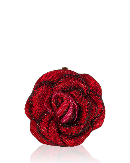 Judith Leiber Couture New Rose American Beauty Crystal