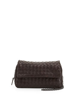 Bottega Veneta Woven Mini Crossbody Bag, Dark Brown