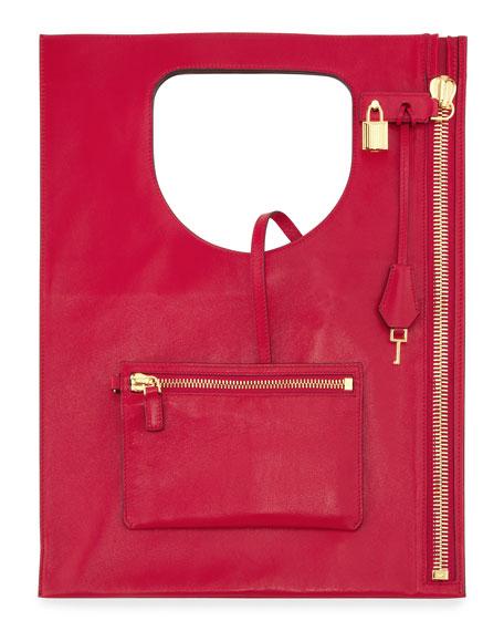 Alix Small Padlock & Zip Shoulder Bag, Pink
