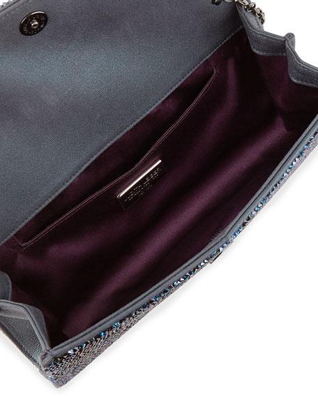 Ritz Fizz Crystal Clutch Bag, Denim Blue