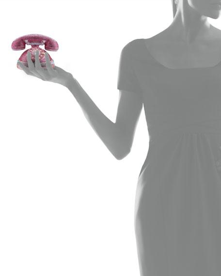 Ringaling Rotary Phone Minaudiere, Pink