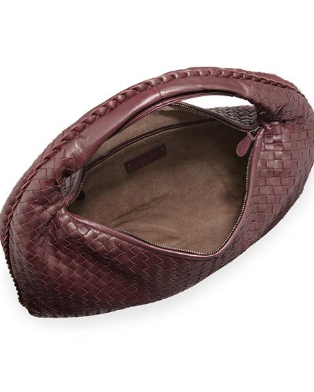 Sac Large Hobo Bag, Aubergine Bordeaux