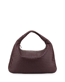 Bottega Veneta Sac Large Hobo Bag, Aubergine Bordeaux