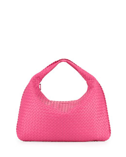 Bottega Veneta Woven Leather Sac Hobo Bag, Fuchsia