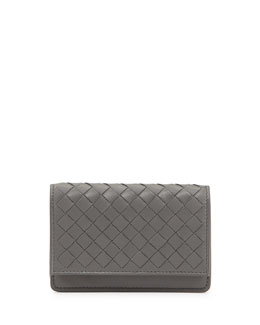 Bottega Veneta 5/6 Credit Card Flip Case, New Light Gray