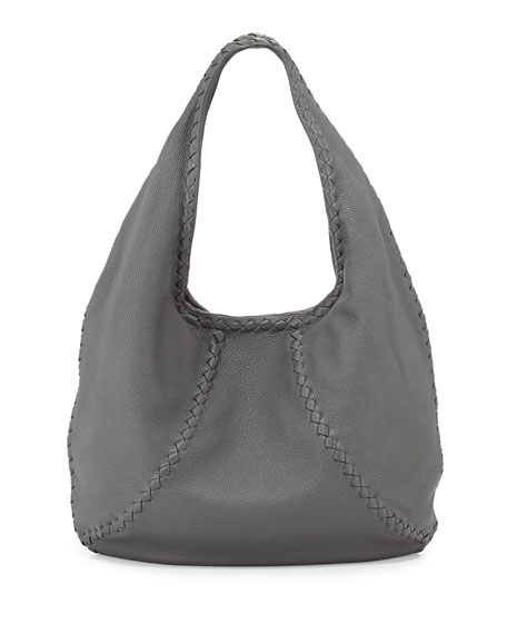 Bottega VenetaCervo Medium Open-Shoulder Hobo Bag, New Light