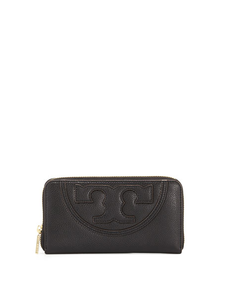 All-T Continental Zip Wallet, Black