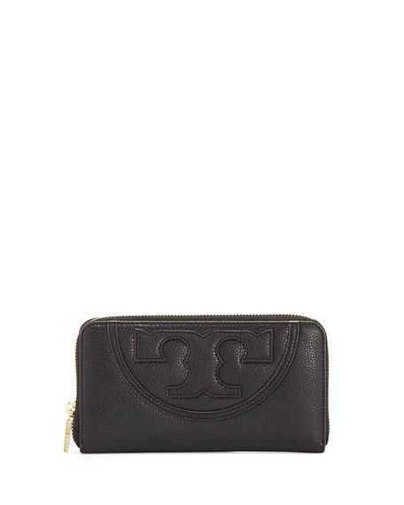 All-T Continental Zip Wallet, Black