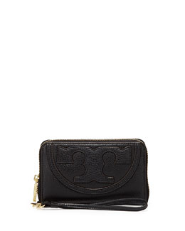 Tory Burch All-T Zip Phone Wristlet Wallet, Black