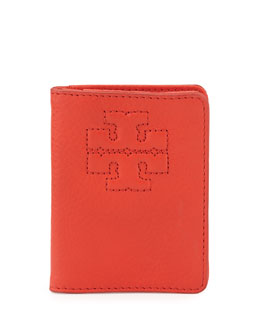Tory Burch Thea Leather Transit Pass Holder, Jasper Red
