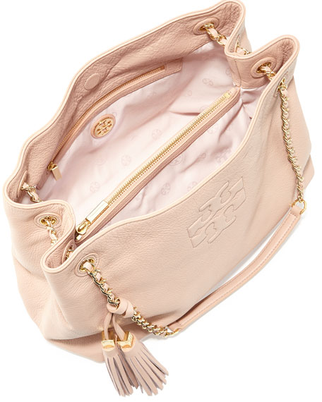 Thea Slouchy Chain-Strap Tote Bag, Porcelain