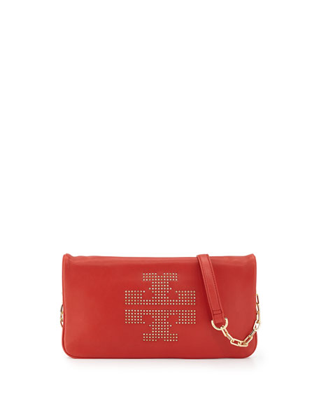Reva Studded Crossbody Bag, Jasper Red