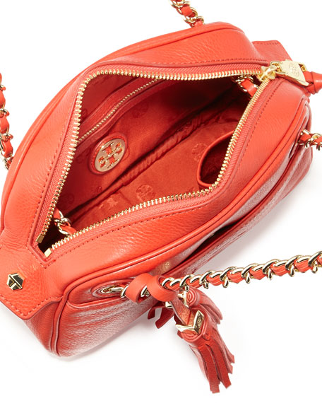 Thea Chain-Strap Crossbody Bag, Jasper Red