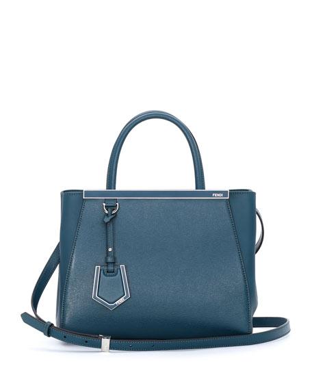 Fendi 2Jours Petit Shopping Tote Bag, Ocean