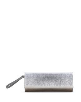 Fendi Rush Metallic Clutch Bag, Argento Silver
