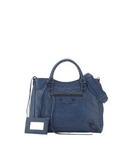 Balenciaga Classic Velo Crossbody Bag, Bleu Persan