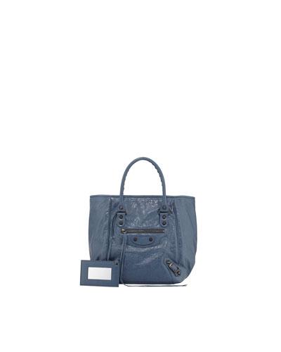 Balenciaga Classic Sunday Small Tote Bag, Bleu Persan