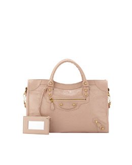 Balenciaga Giant 12 Golden City Bag, Rose Light
