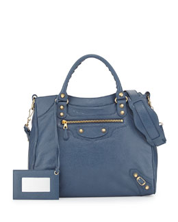 Balenciaga Giant 12 Golden Velo Bag, Bleu Persan