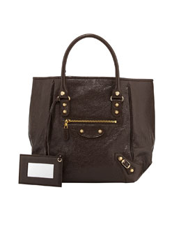 Balenciaga Giant 12 Golden Sunday Tote Bag, Charbon