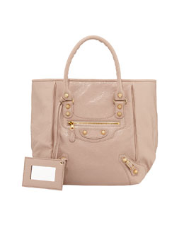 Balenciaga Giant 12 Golden Sunday Tote Bag, Rose Aubergine