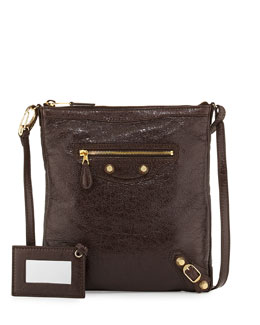 Balenciaga Giant 12 Golden Flat Crossbody Bag, Charbon