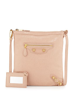 Balenciaga Giant 12 Golden Flat Crossbody Bag, Rose Aubepine