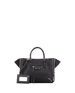 Balenciaga Papier A4 Mini Magnet Tote Bag, Rouge Aubergine
