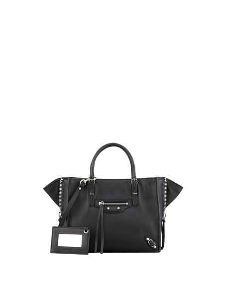 BalenciagaPapier A4 Mini Magnet Tote Bag, Rouge Aubergine