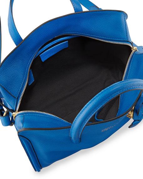 Padlock Small Zip-Around Tote Bag, Bright Blue