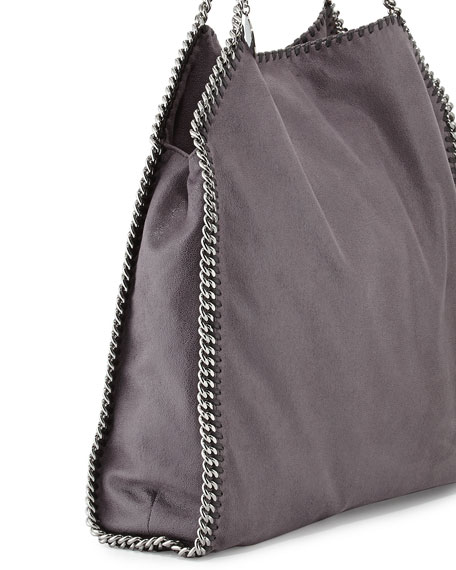 Falabella Large Tote Bag, Bark Brown