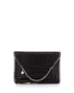 Stella McCartney Falabella Netted Flap Shoulder Bag, Black