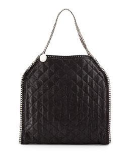 Stella McCartney Falabella Big Quilted Tote Bag, Black
