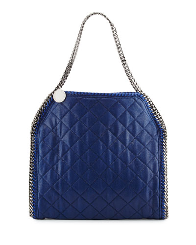 Falabella Small Quilted Tote Bag, Bluebird