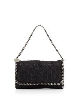 Stella McCartney Falabella Quilted Shoulder Bag, Black