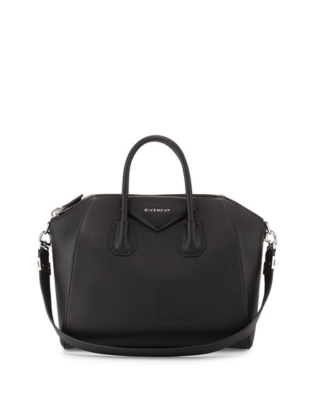Givenchy Antigona Medium Sugar Satchel Bag, Black