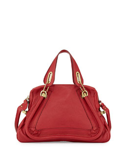 Chloe Paraty Medium Satchel Bag, Bacerola (Red)