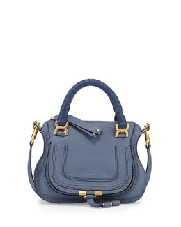 Chloe Marcie Mini Shoulder Bag, Street Blue