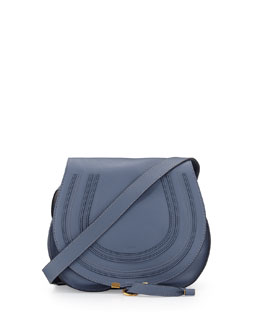 Chloe Marcie Small Satchel Bag, Street Blue