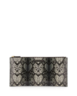 Marc By Marc Jacobs Snake Heart Annabelle Clutch Bag, Gray Multi