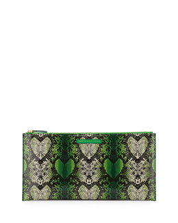 Marc By Marc Jacobs Snake Heart Annabelle Clutch Bag, Fresh Grass